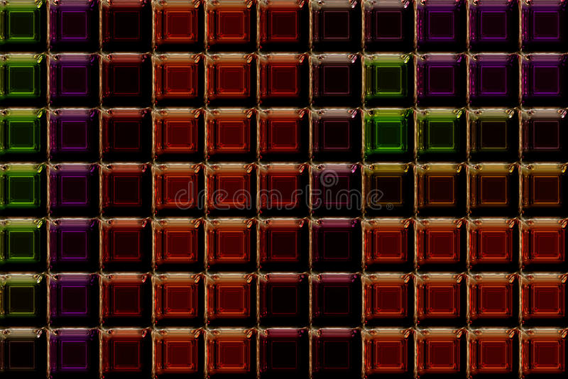 Glass tales. Abstract illustrated wonderful glass tales design royalty free illustration