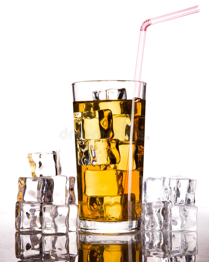Download Glass of tea stock photo. Image of bubble, object, lemon - 25484376