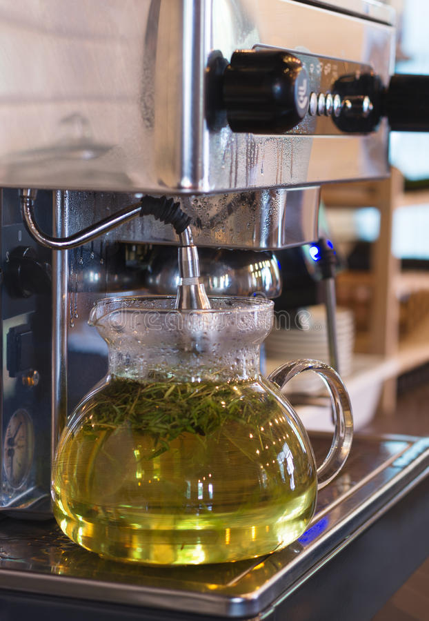 Download Glass tea pot with . stock photo. Image of aromatic, glass - 83713990