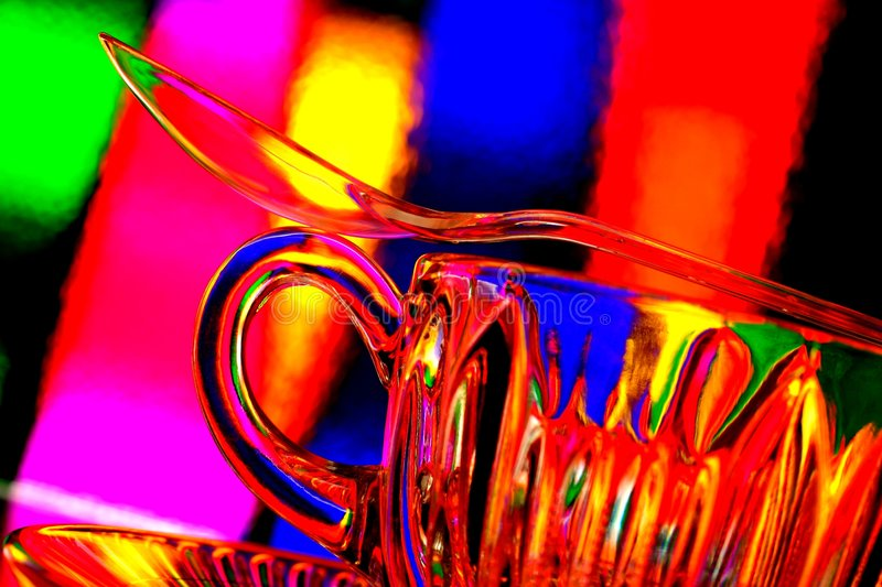 Glass Teacup Abstract stock photo