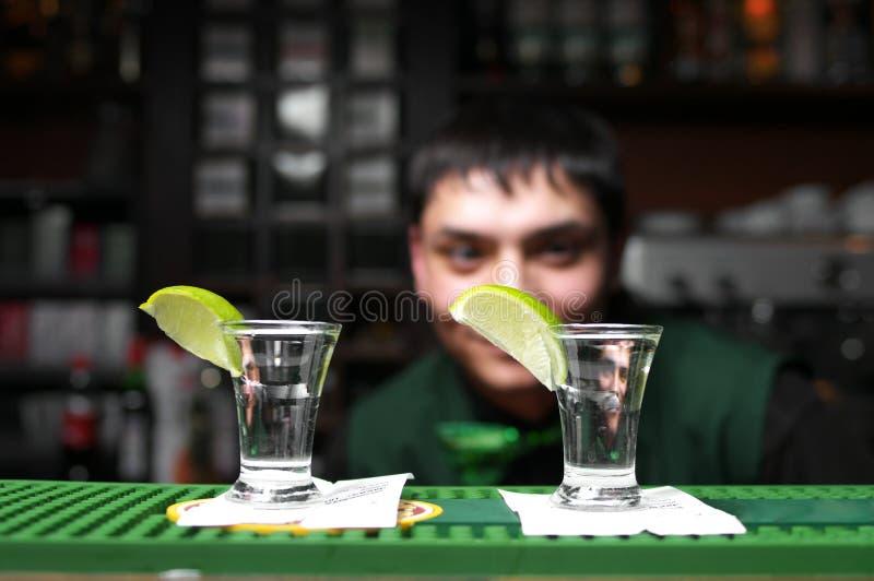 glass tequila två royaltyfria bilder