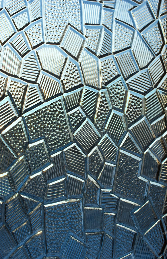 Glass texture. Geometrical texture pattern on a stained glass