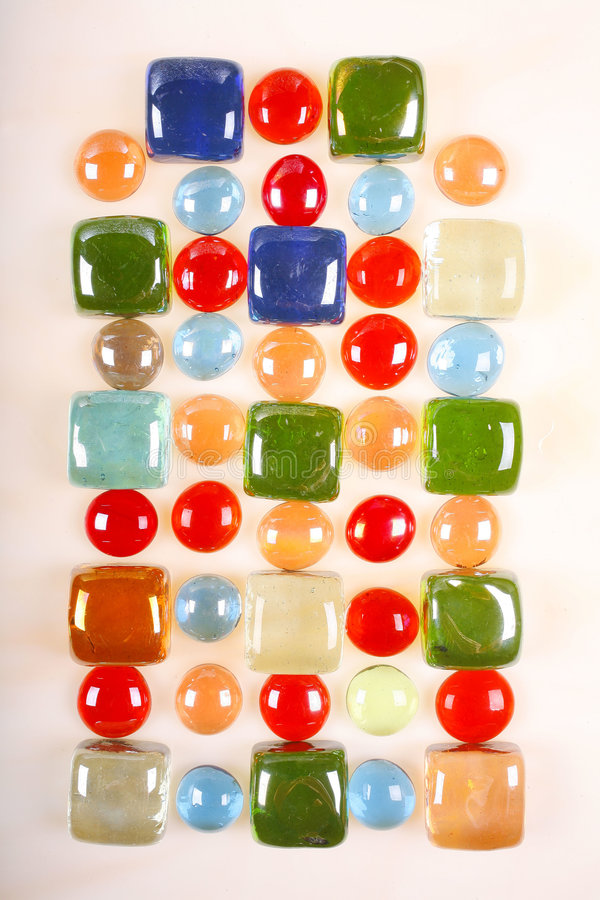 Glass Tile and Bead Mosaic royalty free stock photo