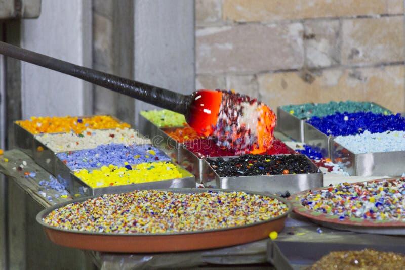 Glass tillverkning arkivbilder