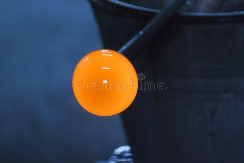 Glass tillverkning arkivbild