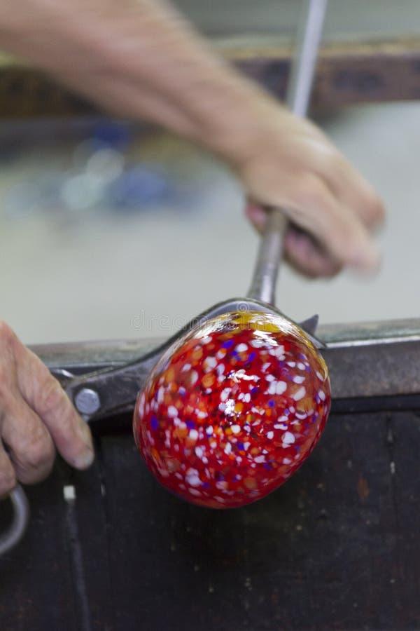 Glass tillverkning arkivfoton