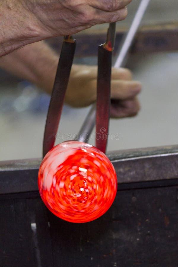 Glass tillverkning royaltyfri foto