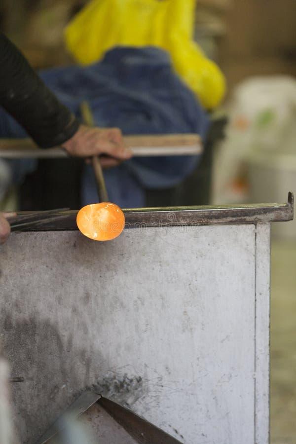 Glass tillverkning fotografering för bildbyråer