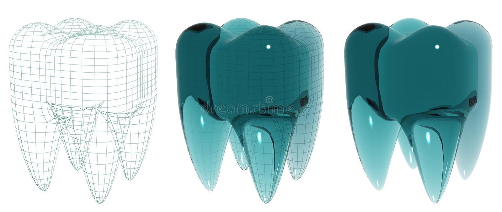Glass Tooth Stock Photography