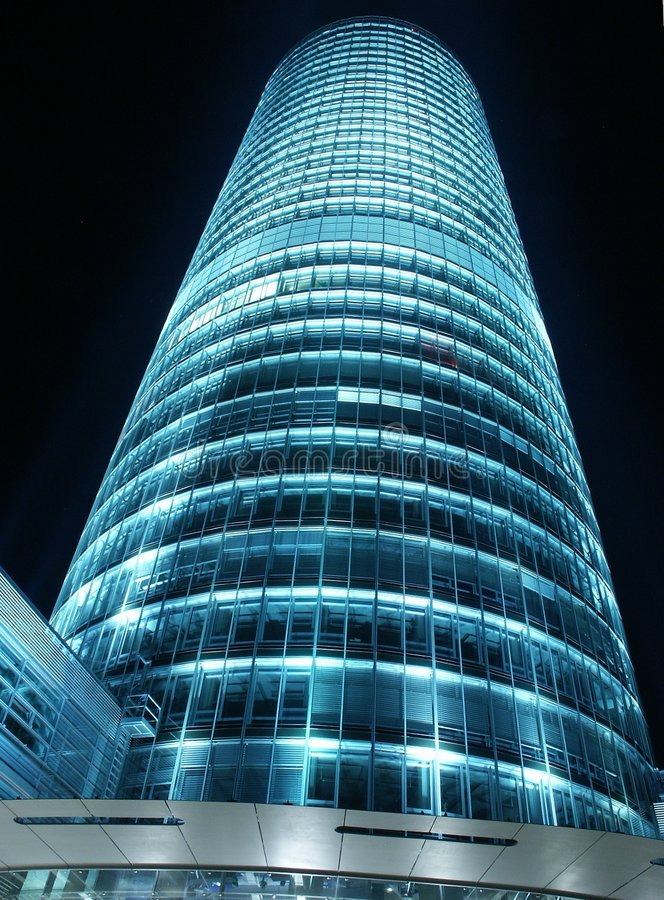 Glass Tower at Night royalty free stock photo