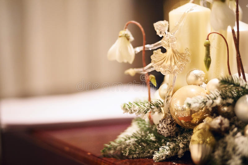 Download Glass Toy Ballerina As A Christmas Decoration Stock Image - Image: 83711811
