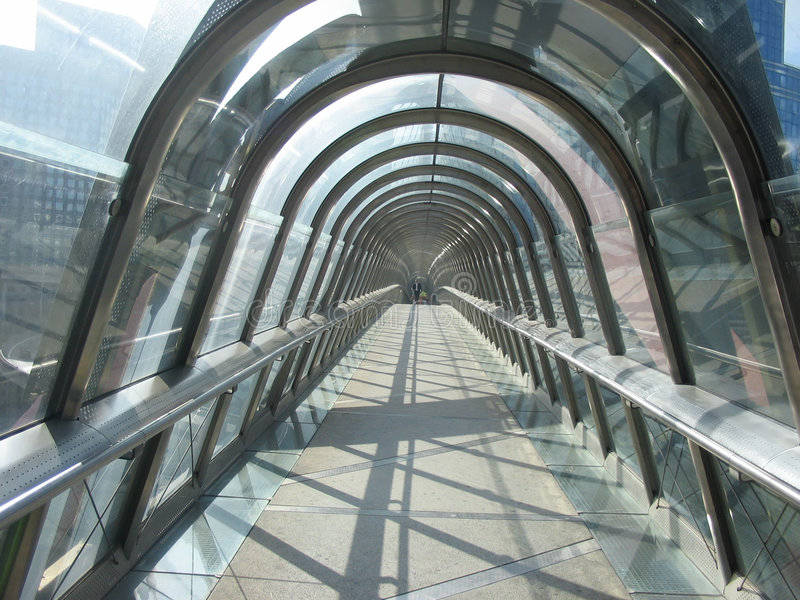 The Glass tunnel royalty free stock photos