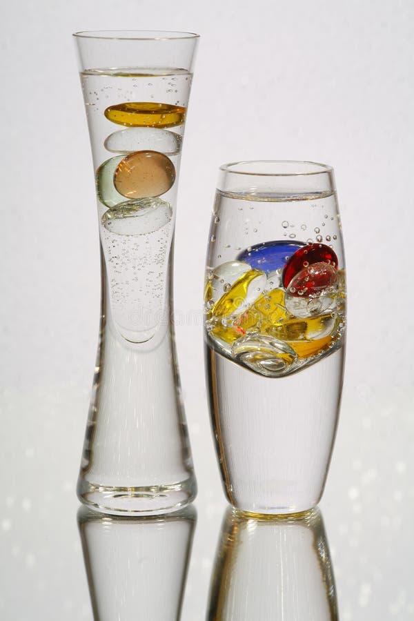 glass two vases στοκ εικόνες