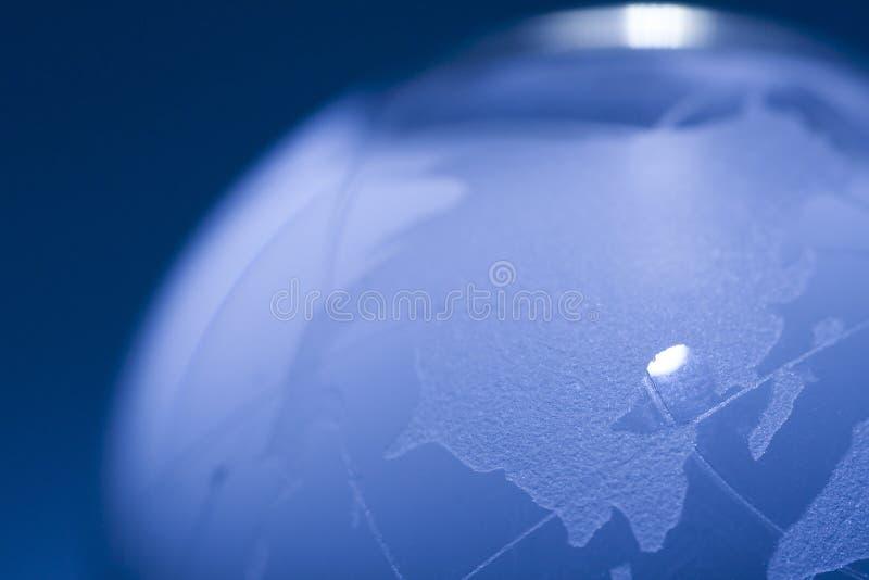 glass värld arkivbild