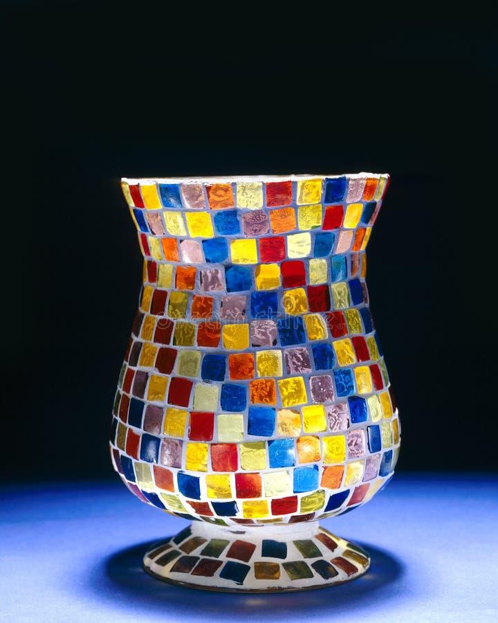 Glass vase stock image