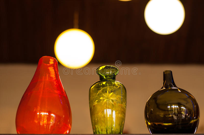 Glass vases royalty free stock photography