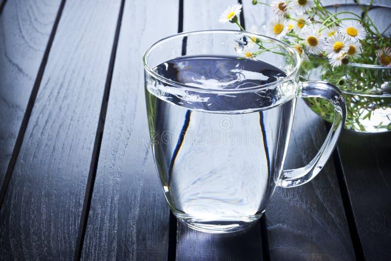 glass vatten arkivfoto