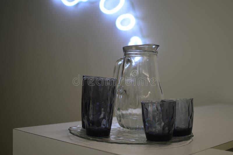 glass vattenwine royaltyfri fotografi