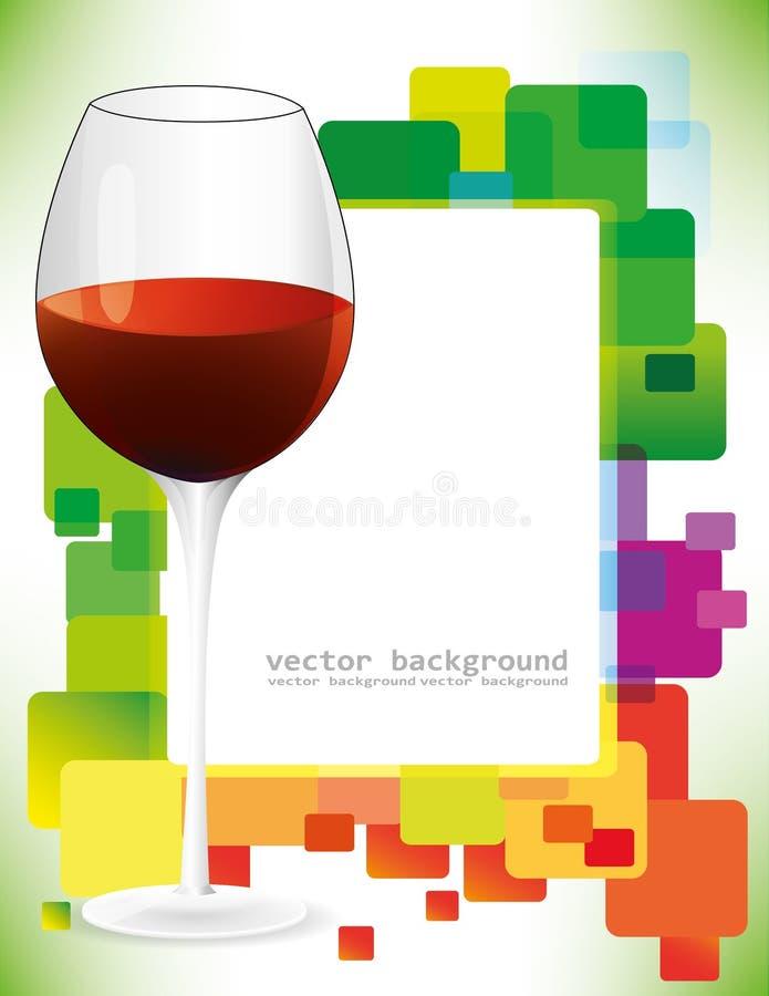 glass vektorwine royaltyfri illustrationer