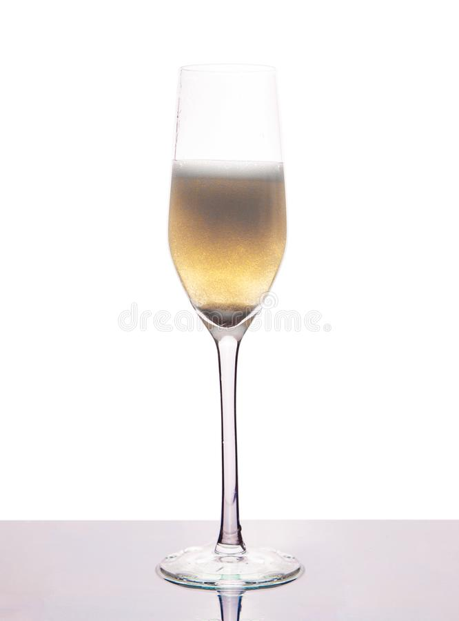 Glass vine with champagne stock photography