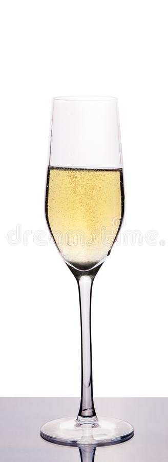 Glass vine with champagne royalty free stock images