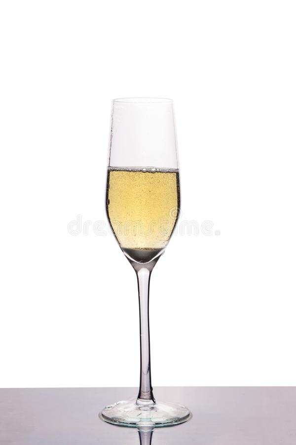 Glass vine with champagne royalty free stock photos