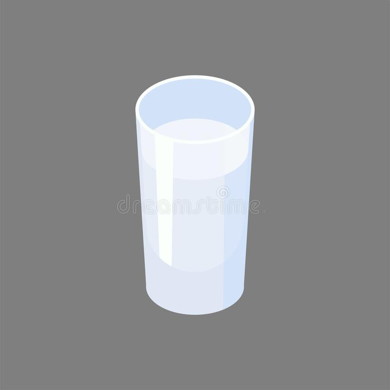 Glass of vodka isolated. Alcohol Vector illustration.  royalty free illustration