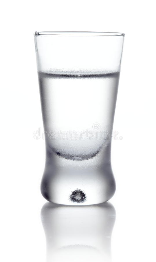 Glass of vodka isolated on white royalty free stock photos