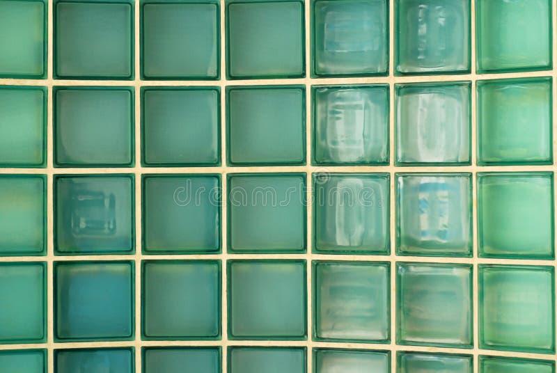 Glass wall brick stock photo