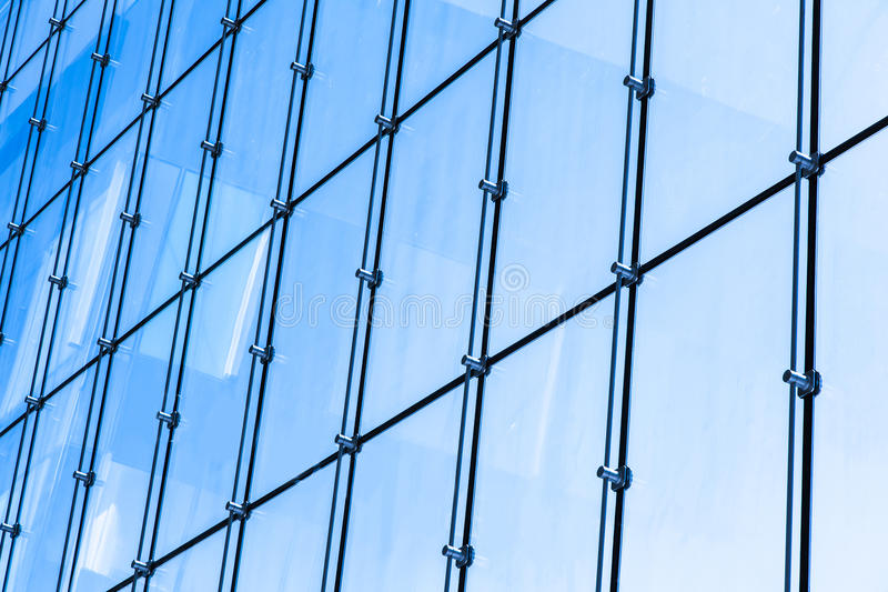 Glass wall. Of business center stock images