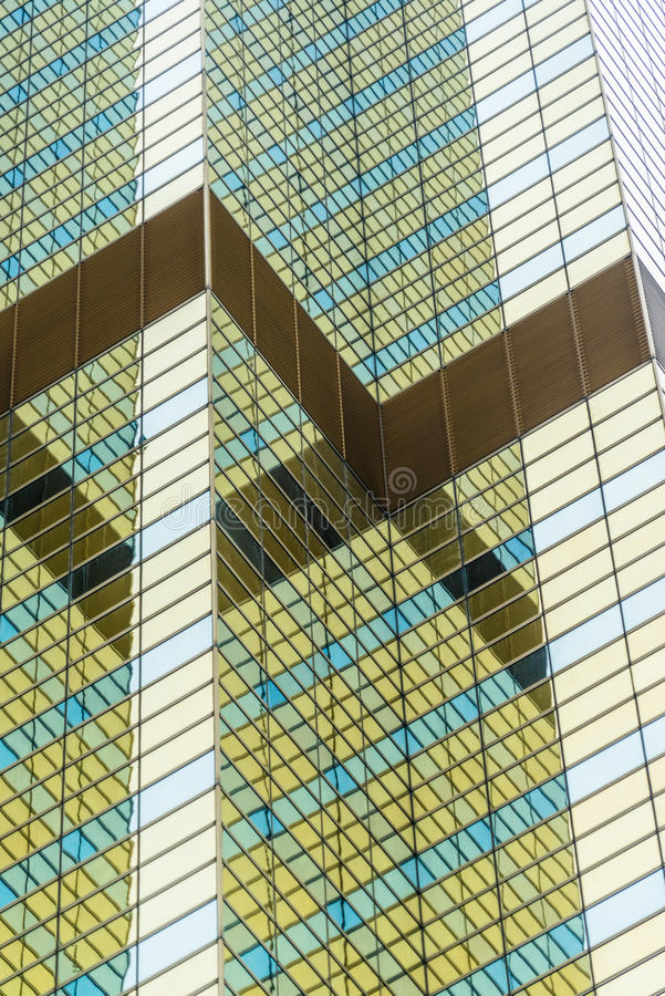 Glass wall,contemporary architecture facade. In Shanghai,China stock photo