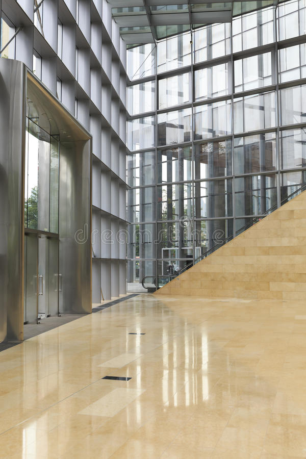 Commercial Steel Buildings And Block : Modern commercial glass building stock photo image
