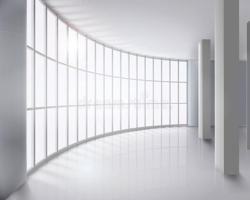 Glass wall. Vector illustration. royalty free illustration