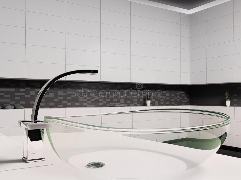 Glass washbasin 3d stock illustration