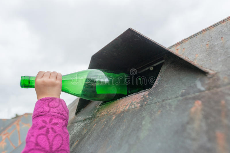 Glass waste stock photos