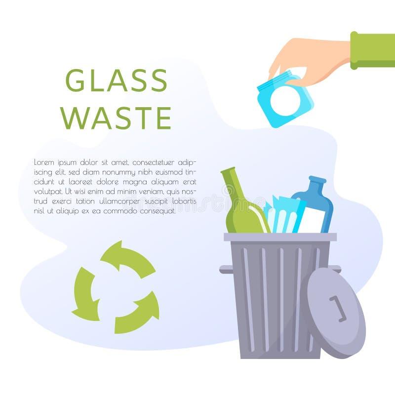 Free Glass Waste Vector Illustration. Home Stuff - Wine Bottle, Plate, Wineglass, Jar, Glasses. Stock Image - 141320831