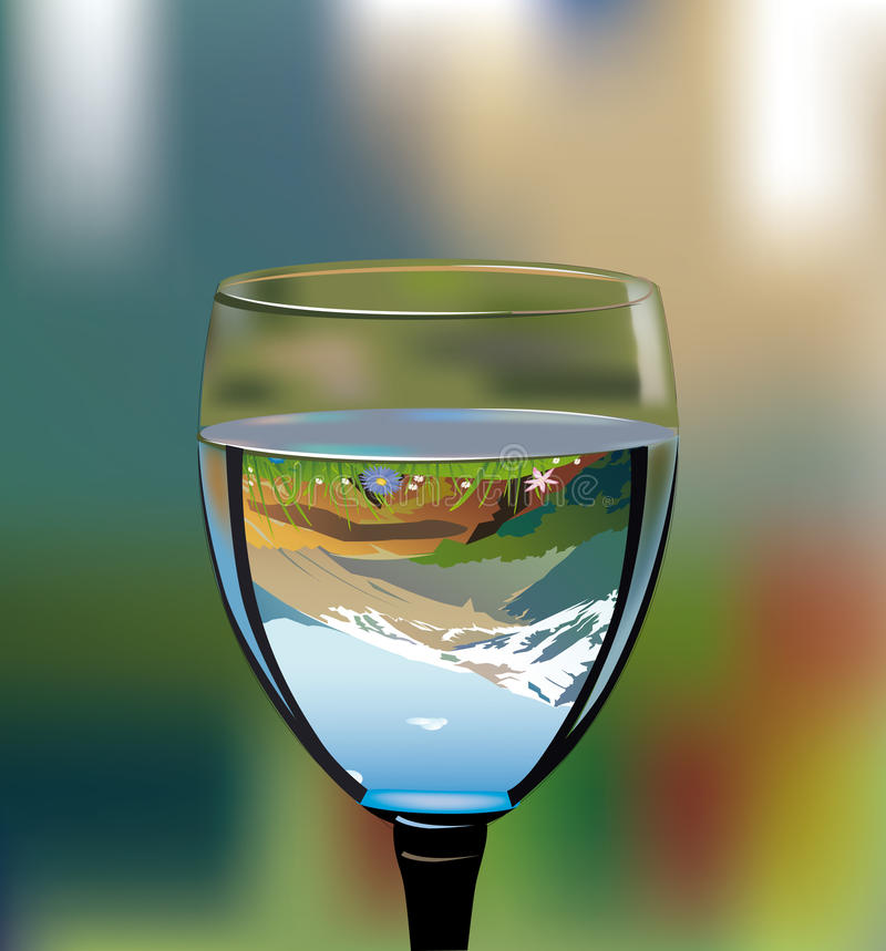 glass with water stock illustration