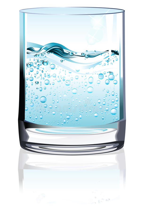 Download Glass of water. stock vector. Image of purity, transparent - 19295013