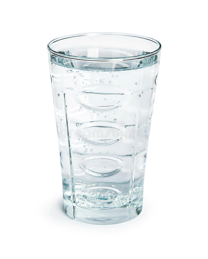 Glass of water. The glass of water isolated on white background stock image
