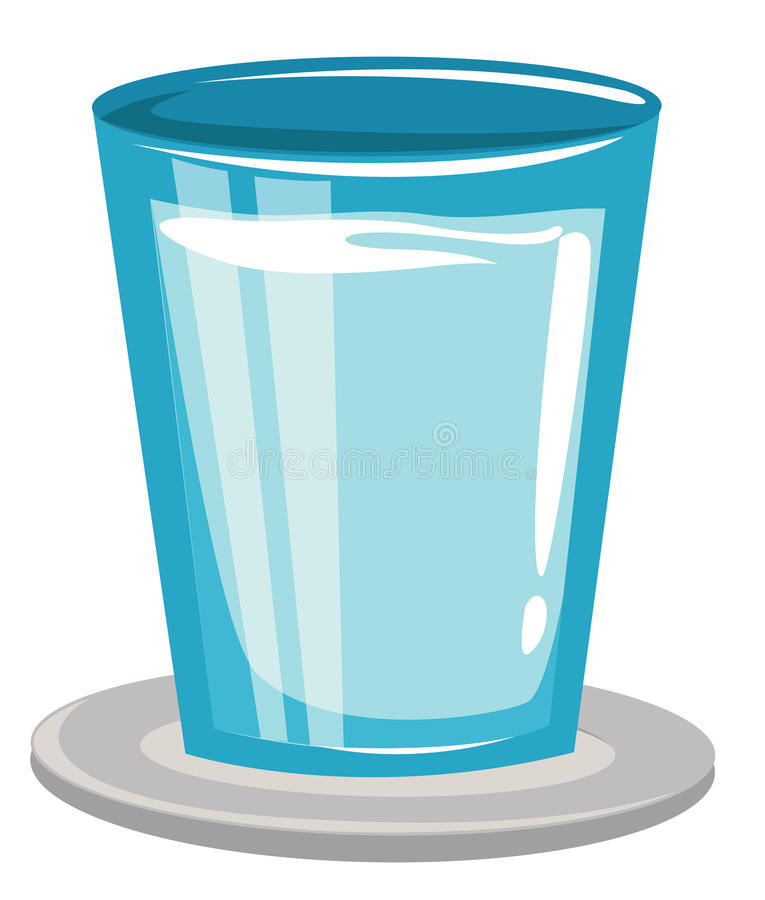 Glass of Water royalty free illustration
