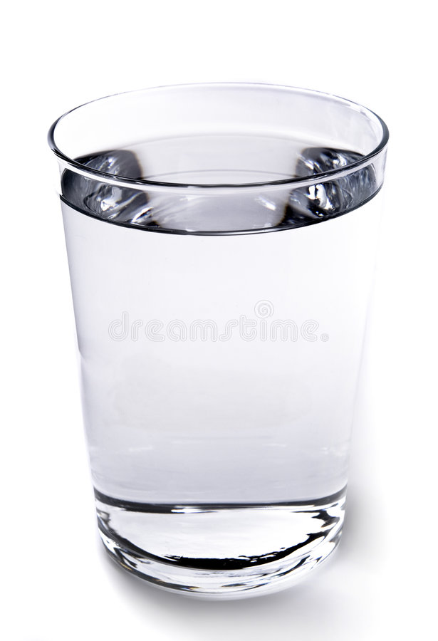 A Glass of Water. Isolated on white royalty free stock photography