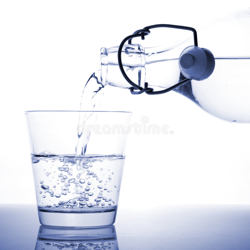 A glass of water royalty free stock photos