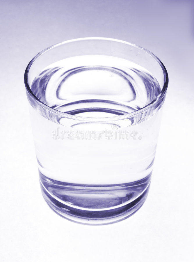 Glass of water. stock image