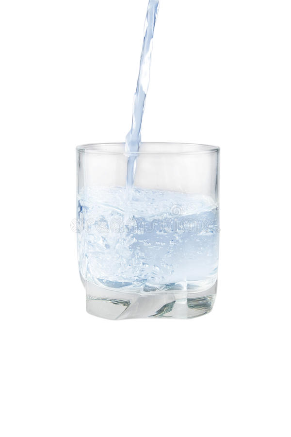 Glass with water. Isolated on white stock photo