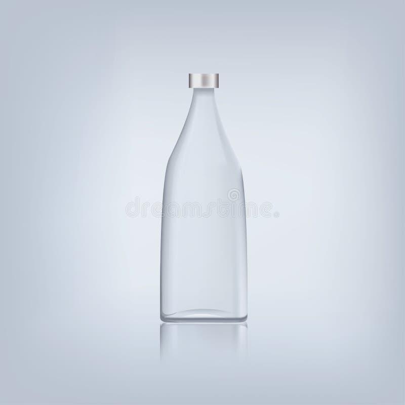Glass bottle. Glass water bottle isolated, vector royalty free illustration
