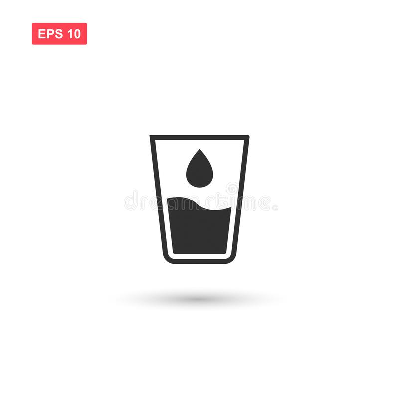 Free Glass Water Drop Icon Vector Isolated 5 Stock Image - 138741021