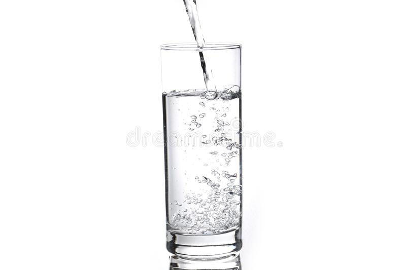 Glass of water royalty free stock photo
