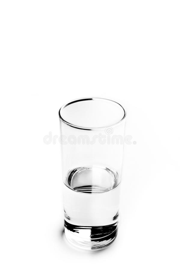 Download Glass of water. Half full. stock image. Image of balance - 10196699