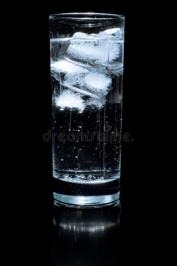 Download Glass of water and ice stock image. Image of thaw, cleanness - 19718261