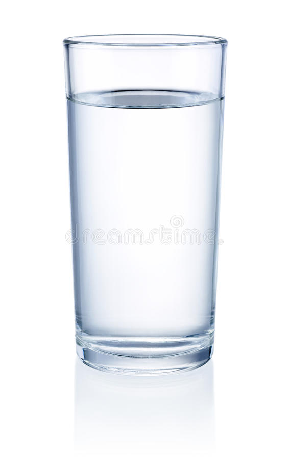 Glass of Water isolated on white background royalty free stock images